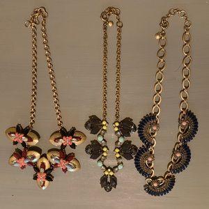 Lot of 3 J.Crew Necklaces